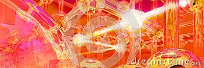 Futuristic light beam transmit structure