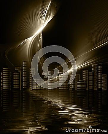 Futuristic metropolis