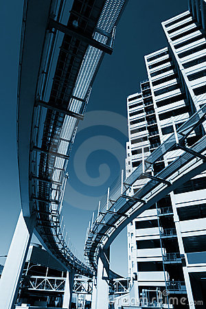 Free Futuristic Monorail City Royalty Free Stock Image - 2631176