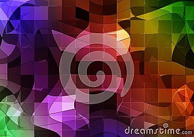 Futuristic mosaic