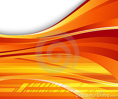 Futuristic orange background - speed