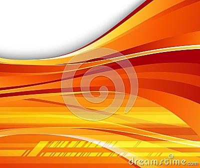 Futuristic orange background - speed
