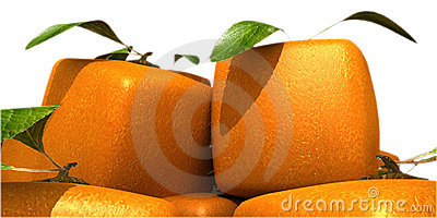 Futuristic oranges close-up