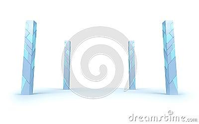Futuristic pillars