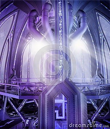 Futuristic platform 2