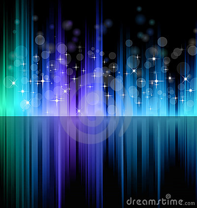 Futuristic Rainbow Lights Background