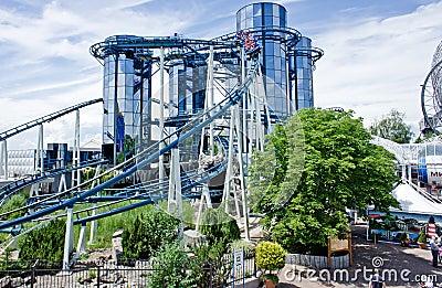 Futuristic Rollercoaster Editorial Image