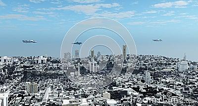 Futuristic Science Fiction Cityscape