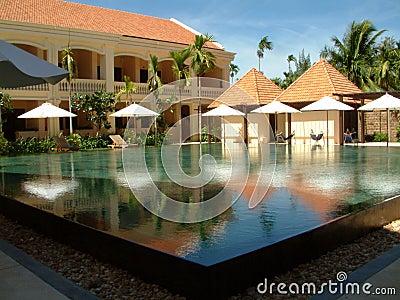 Futuristic swimming pool.
