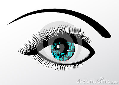 Futuristic Technology Computerized eye