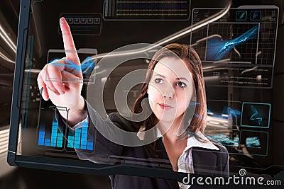 Futuristic touch screen computer