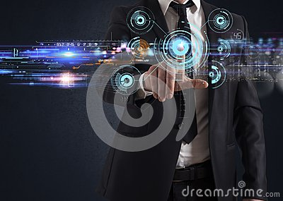 Futuristic touch screen interface