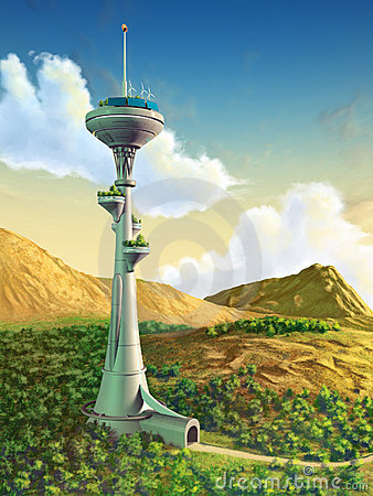 Futuristic tower