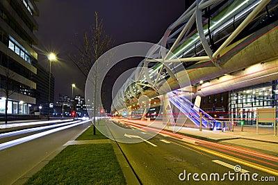 Futuristic tram tube