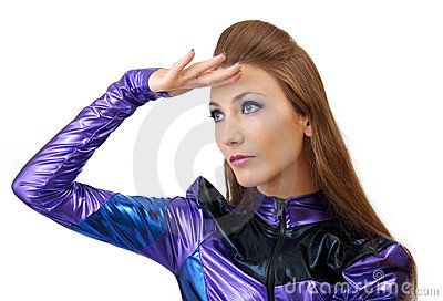 Futuristic woman.