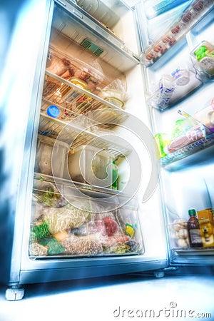Futuristischer Kühlraum
