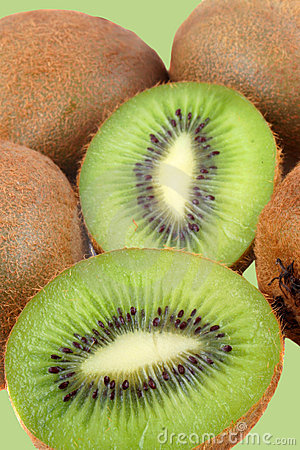 Fuzzy kiwi fruits