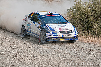 Fx Pro Cyprus Rally. Love Cyprus Stage. 2010 Editorial Stock Image