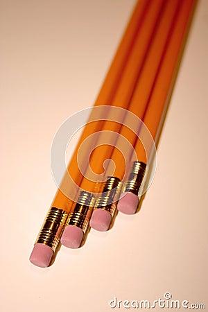 Fyra blyertspennor