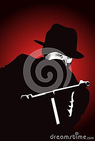 Gángster con el arma