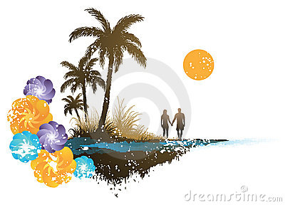 Gömma i handflatan paradistreen