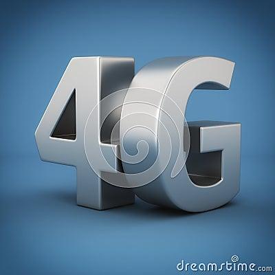 4G on blue