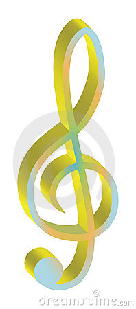 G-Clef with clipping path