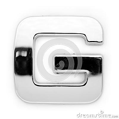 G - Metal letter