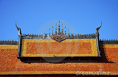 Gable apex of temple