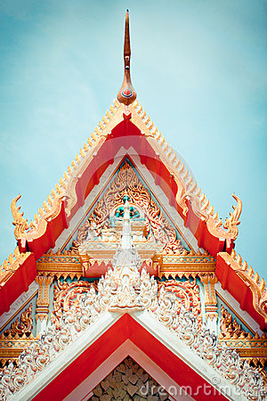 Gable Temple roof