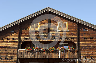 Gable of a traditional Swiss chalet