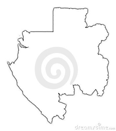 Gabon outline map