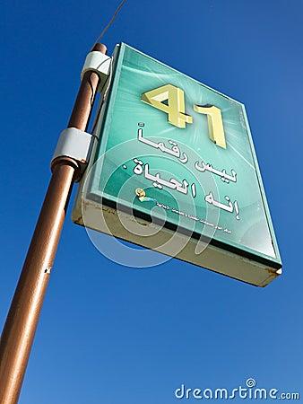 Gaddafi Propaganda Poster Editorial Image
