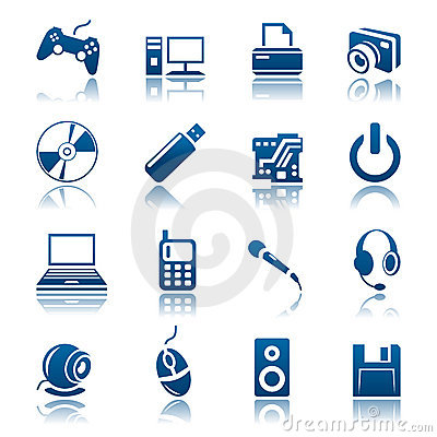 Free Gadget Icon Set Royalty Free Stock Photos - 14166198