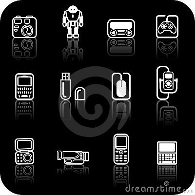 Free Gadget Icon Set Royalty Free Stock Photo - 2988035