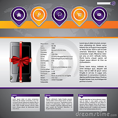 Gadget selling website template design