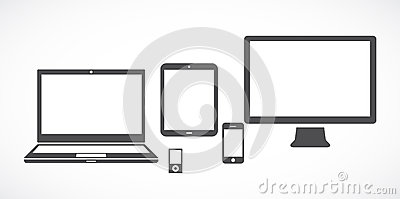 Gadgets Cartoon Illustration