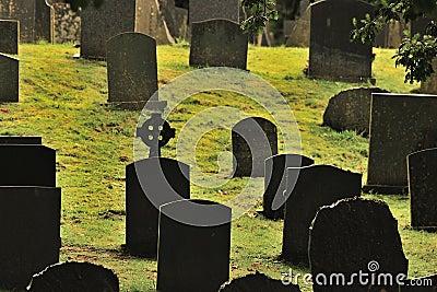 Gaelic cross graveyard,