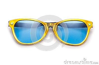Gafas de sol del partido aisladas