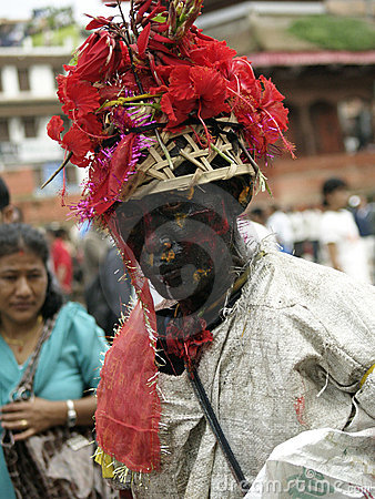 Gai Jatra (The festival of Cows) Editorial Photography