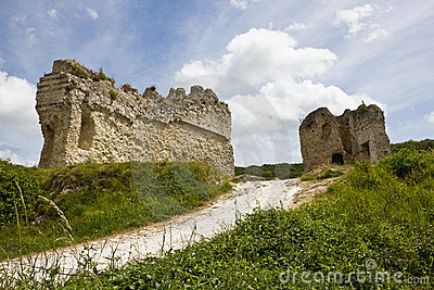 Gaillard Castle defending walls