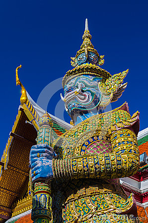 Giant Guardian at Wat Phra Kaew, Temple of the Eme