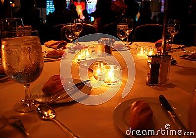 Gala dinner table