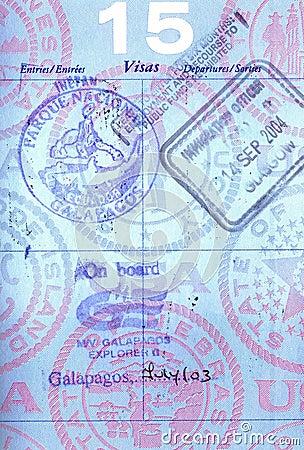 Galapagos passport stamps