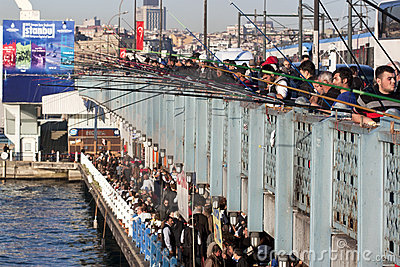 Galata bridge Editorial Stock Photo