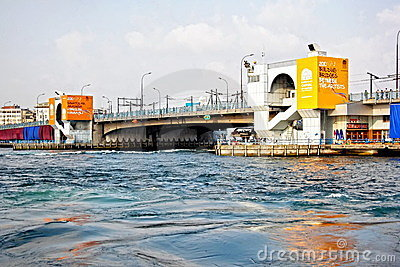 Galata Bridge in summer Editorial Photo