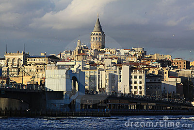 Galata Tower and Galata Bridge