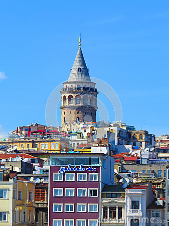 Galata Tower Editorial Stock Photo