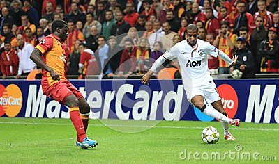 Galatasaray FC - Manchester United FC Editorial Stock Photo