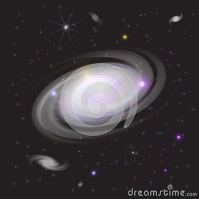 Galaxia en espacio
